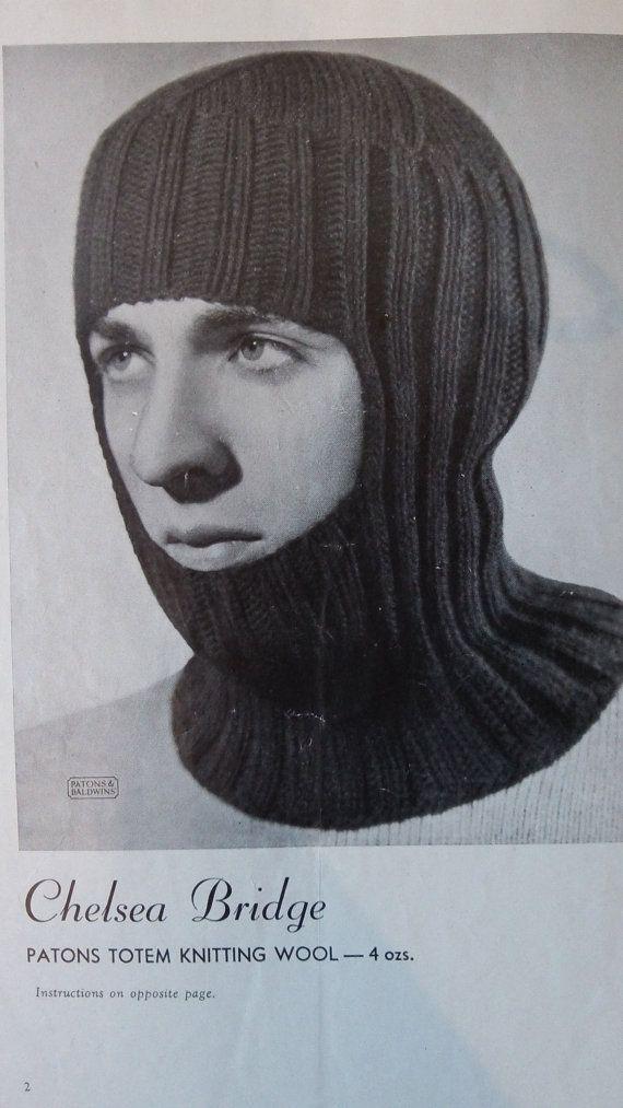 Terrific 1930's original vintage Patons knitting by Gladyswasagirl, $6.00