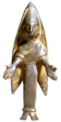 Bronze female votive figure from the Bastetani or Bastuli, pre-Roman people of the Iberian peninsula