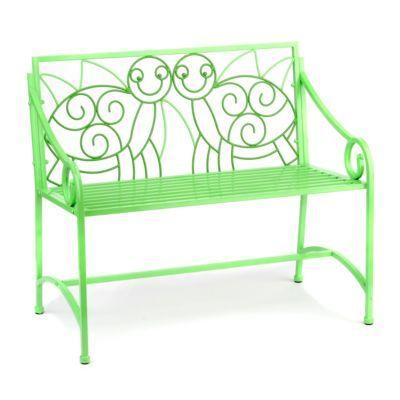 Детская скамейка Металл черепаха мебель / Kids' Green Metal Turtle Bench | Kirkland's