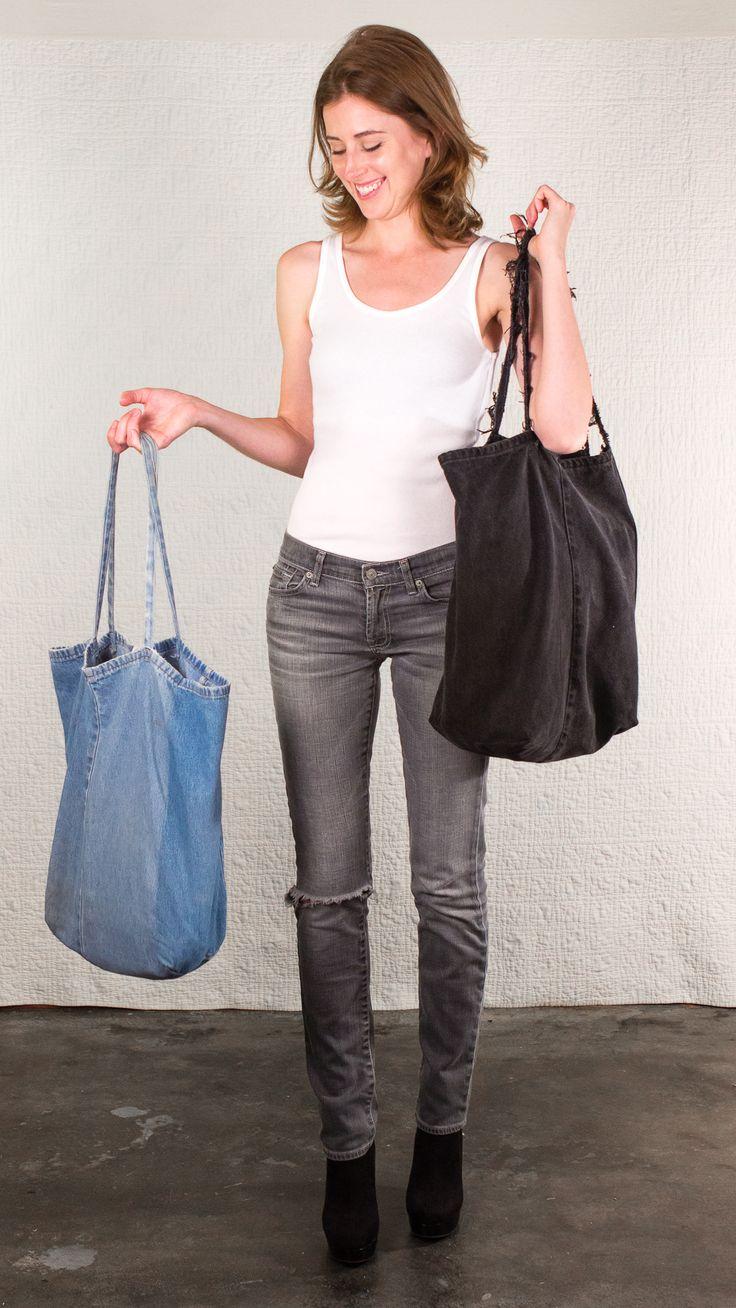 Big Bag from SilkDenim.us- the best #reuse #denim #bag on the market