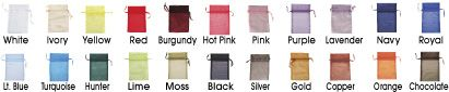 Organza Bags, Organza Gift Bags in Stock - ULINE