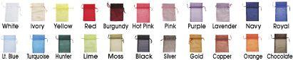 Organza Bags, Organza Gift Bags in Stock - ULINE