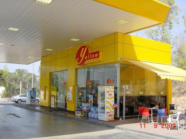 Paz c-store Yellow via Minale Tattersfield Roadside Retail Flickr