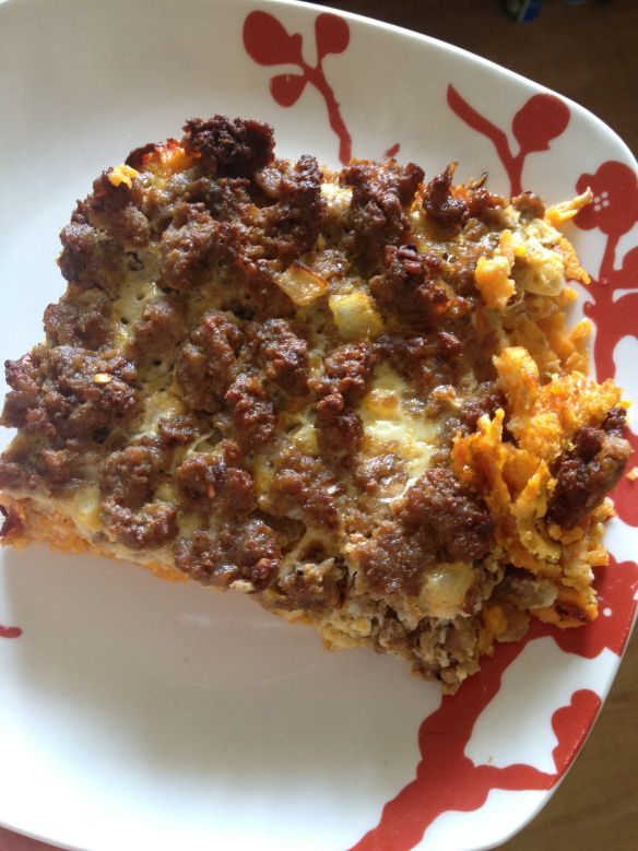 Whole30 Paleo Breakfast casserole - double the eggs, add more milk to make it the right consistency. Also note it takes much longer than 45 mins to set