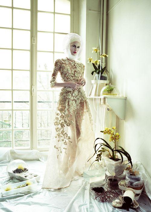 """Haute Couture"" Zuzanna Bijoch by Jeff Bark for Vogue Ukraine April 2013"