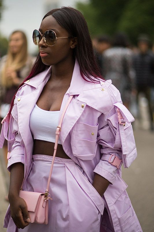 SS16 streetstyle details high-waisted trousers long trench coat
