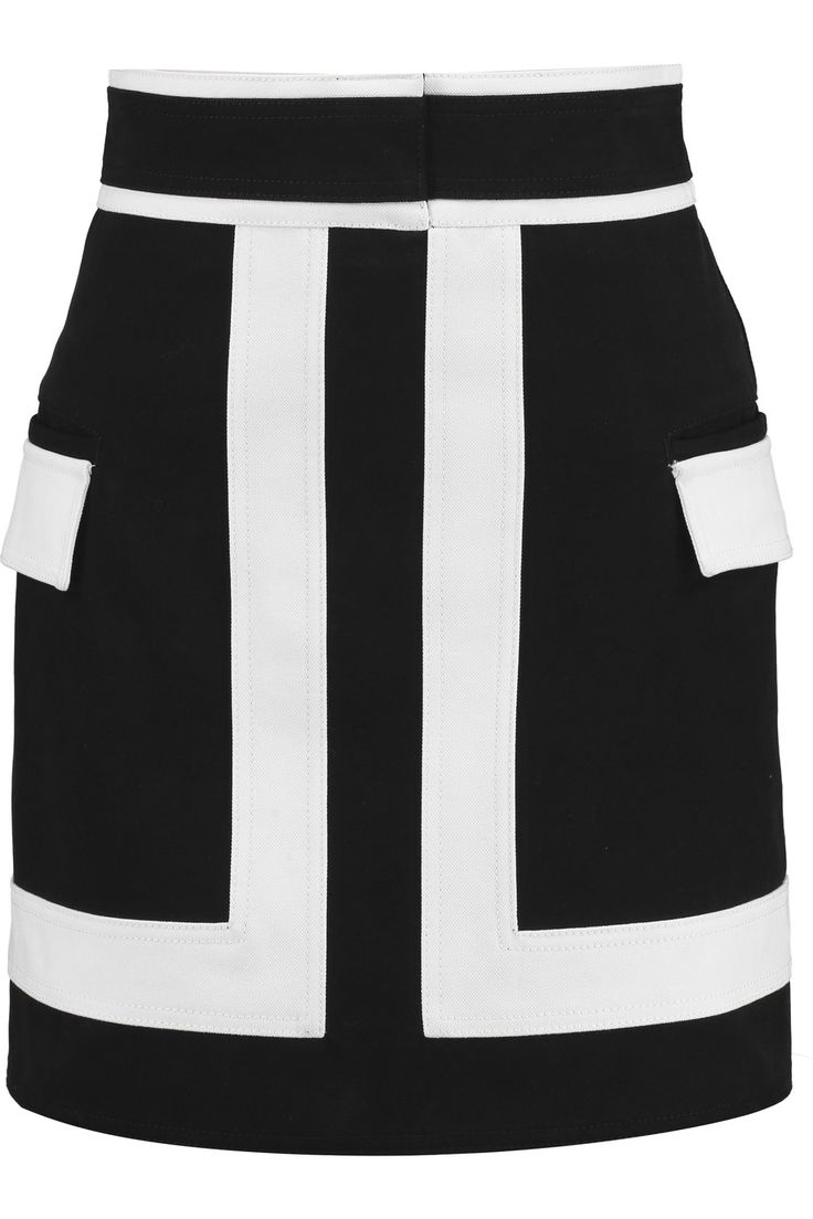 Shop on-sale Balmain Two-tone cotton-drill mini skirt. Browse other discount designer Skirts & more on The Most Fashionable Fashion Outlet, THE OUTNET.COM
