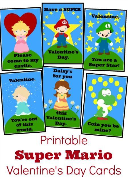 adrisaurus valentine's day cards - Free Printable Super Mario Bros Valentine s Day Cards
