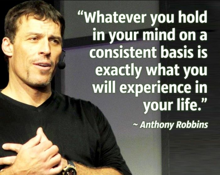 I love the energy what Anthony Robbins have!  -It's all about You, nobody else…