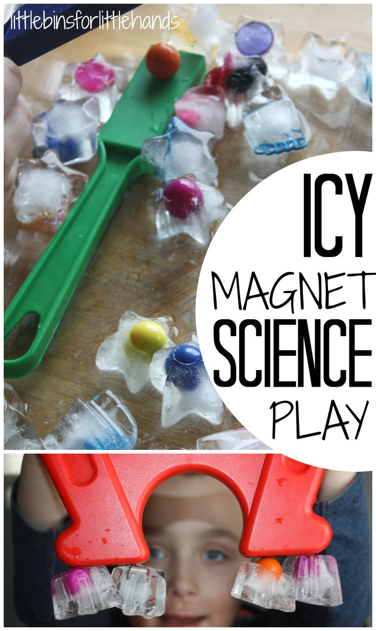Magnetic Ice Science Activity Ice Magnet Play Kids STEM | In #China? Try www.importedFun.com for award winning #kid's #science |