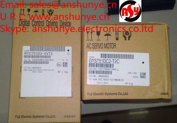 FUJI RYC751D3-VVT2 + GYS751DC2-T2C AC SERVO DRIVER + MOTOR  NEW & ORIGINAL PACKAGING #Affiliate