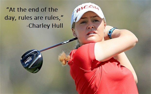 Charley Hull on the Solheim Cup controversy. In spite of controversy, it's always great to see such intense competition. #LPGA #Golf #GolfQuotes #Rules #SolheimCup #CharleyHull #2ndSwingGolf
