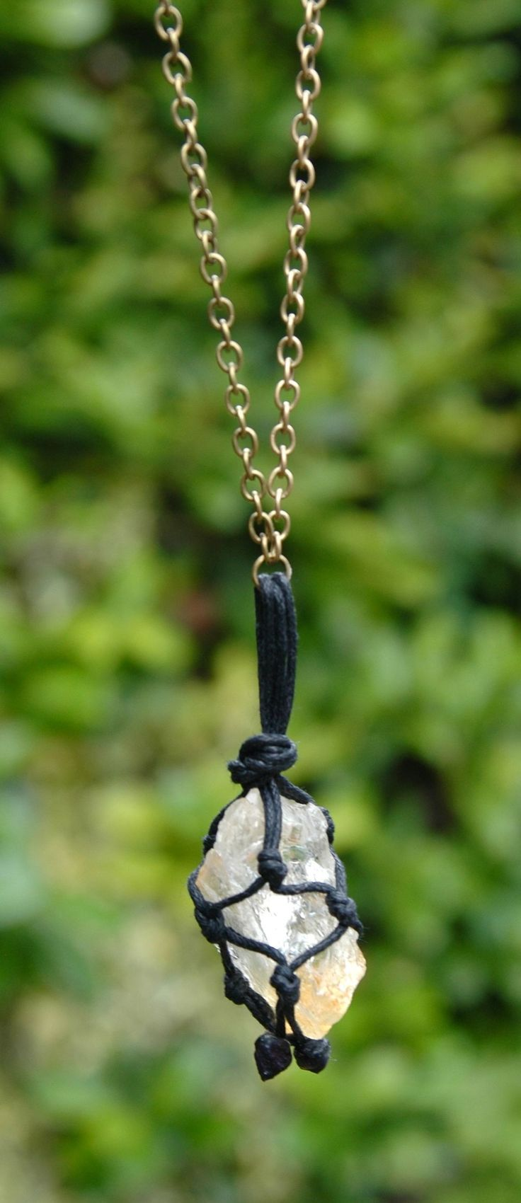 Raw citrine crystal pendant necklace, boho jewellery, bohemian jewelry by TessHeaven on Etsy https://www.etsy.com/uk/listing/240476869/raw-citrine-pendant-necklace-raw-crystal?ref=shop_home_active_1