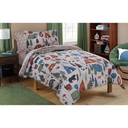 Free Shipping on orders over $35. Buy Mainstays Kids Camping Bed in a Bag Bedding Set at Walmart.com