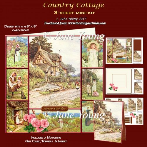 Country Cottage - 3-Sheet Mini-Kit : The Designer Twins ...where creativity encounters quality and value