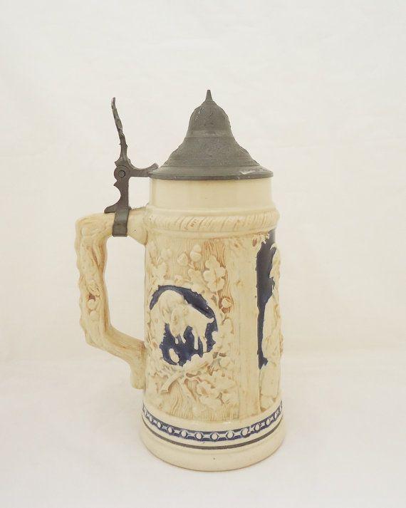 Vintage German Beer Mug German Beer Stein by thesecretcupboard