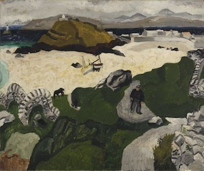 Porthmeor Beach (1928) by Christopher Wood. Painted on Sunday 26 August during a weekend trip to St Ives with Ben Nicholson. That same evening the two of them discovered Alfred Wallis.