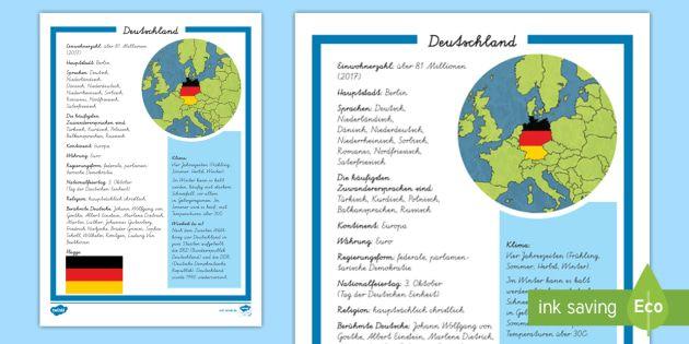 New Deutschland Steckbrief Informationstext Europa