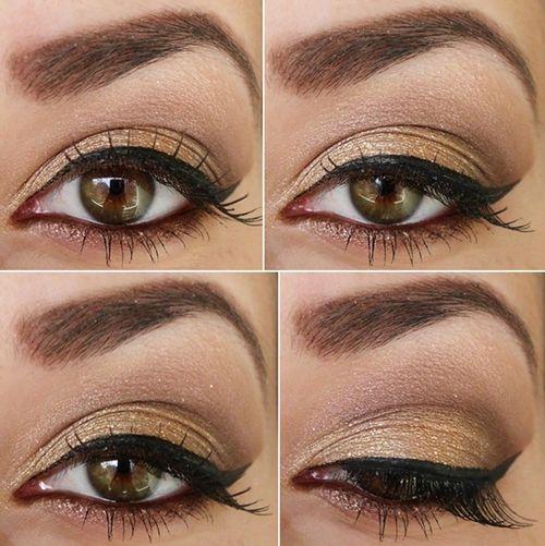 light smokey eye with winged eyeliner