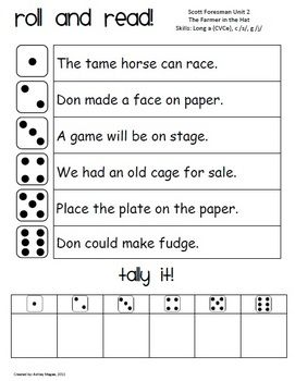 These Roll and Read activities provide students with fluency practice. Print out each Roll and Read for each story. The Roll and Read sheets are le...