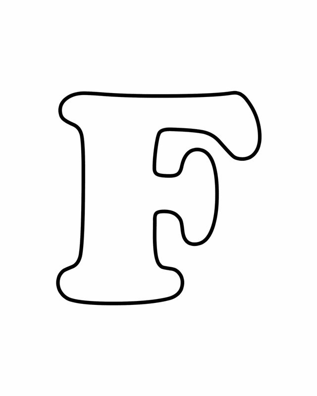 F   Letter F - Free Printable Coloring Pages