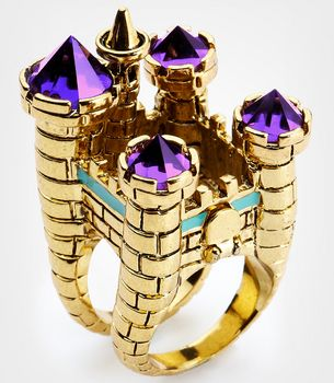 Disney Couture Oversized Castle Cocktail Ring aka Why is this not on my finger all the time?