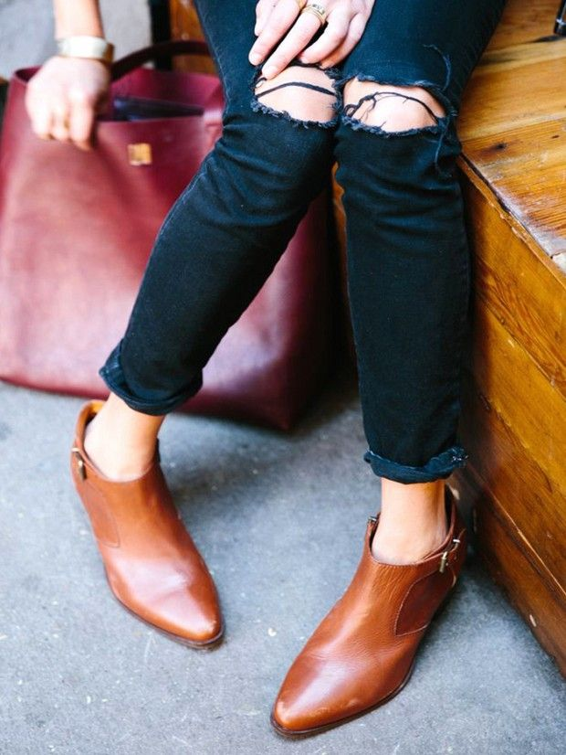 tan ankle boots: #TuesdayShoesday: 7 Must-Have Tan Ankle Boots via @WhoWhatWear