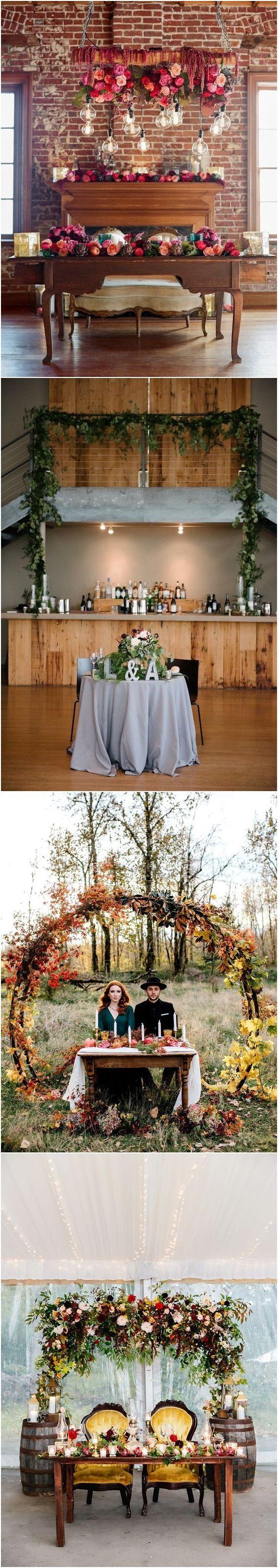 wedding reception at home ideas uk%0A    Fall Wedding Reception  Sweetheart Table Ideas