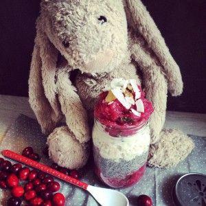 Cranberry-Apfelmus datet Chiapudding