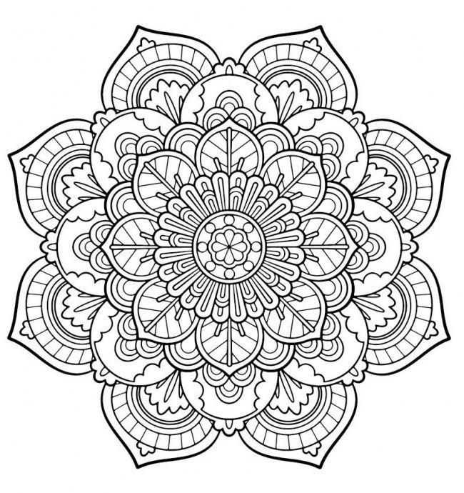 Mandalas para colorear, una divertida forma de decirle adiós al estrés