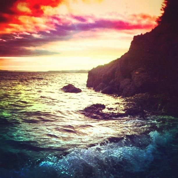 Glassy Beach. Springdale, Newfoundland