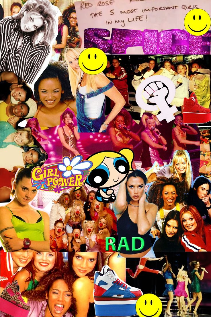 Spice Collage 90s wallpaper, Spice girls, Cute wallpapers