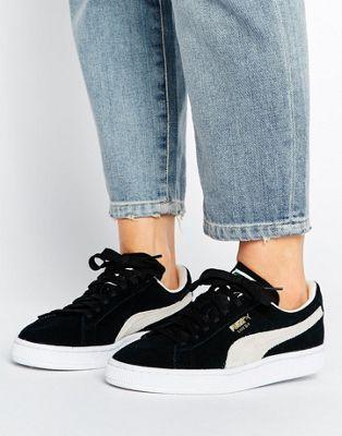 4193feba6db6 Puma Suede Classic Sneakers In Black