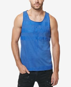 Buffalo David Bitton Men's Tank - Blue XXL