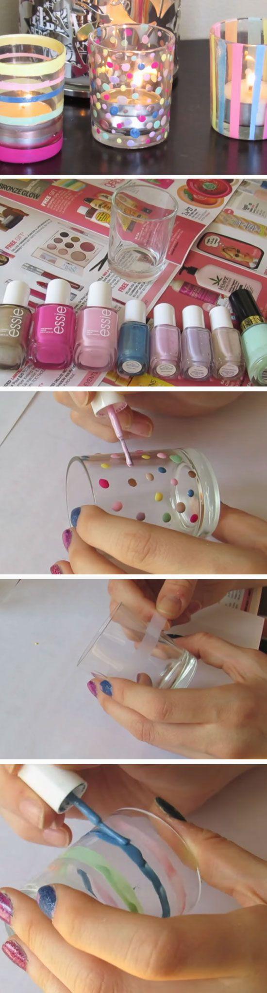 Pastel Votives   DIY Easter Party Favor Ideas for Teens   Handmade Spring Gift Ideas for Kids