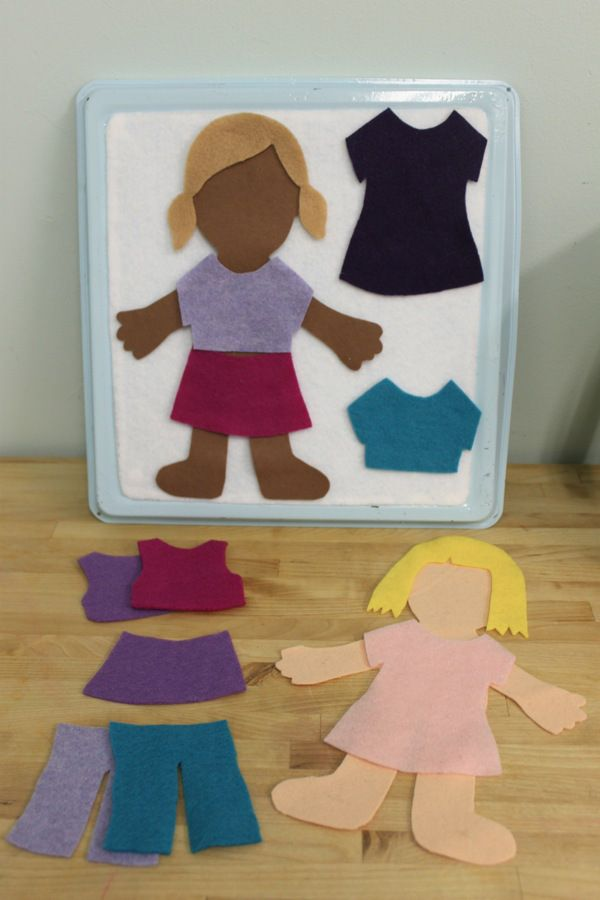 Felt dress up dolls DIY