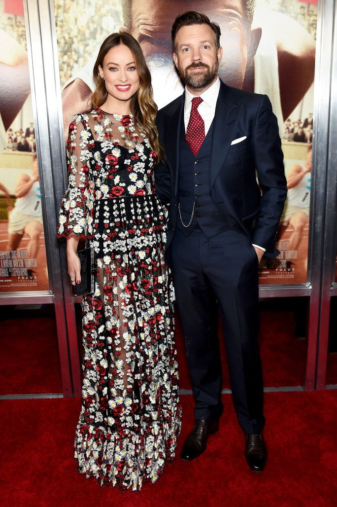 Olivia Wilde and Jason Sudeikis hit the red carpet at a screening of Sudeikis's upcoming film Race in New York City.