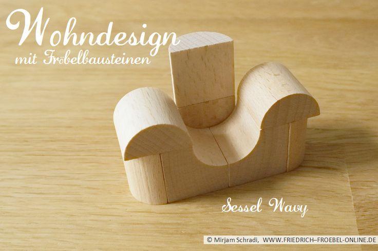 """""""Wavy"""" lädt zum Träumen ein... und erlaubt auch ungewöhnliche Sitzpositionen. Ein Sessel zum Träumen für Kreative und Inspiratoren. Designt mit Froebelgabe 5B. ;-)  Mehr über Fröbel und die Spielgaben:  http://www.friedrich-froebel-online.de/   Diese Bausteine kaufen: http://www.friedrich-froebel-online.de/shop/spielgaben/spielgabe-5b-holzbausteine/#cc-m-product-10078222812"""