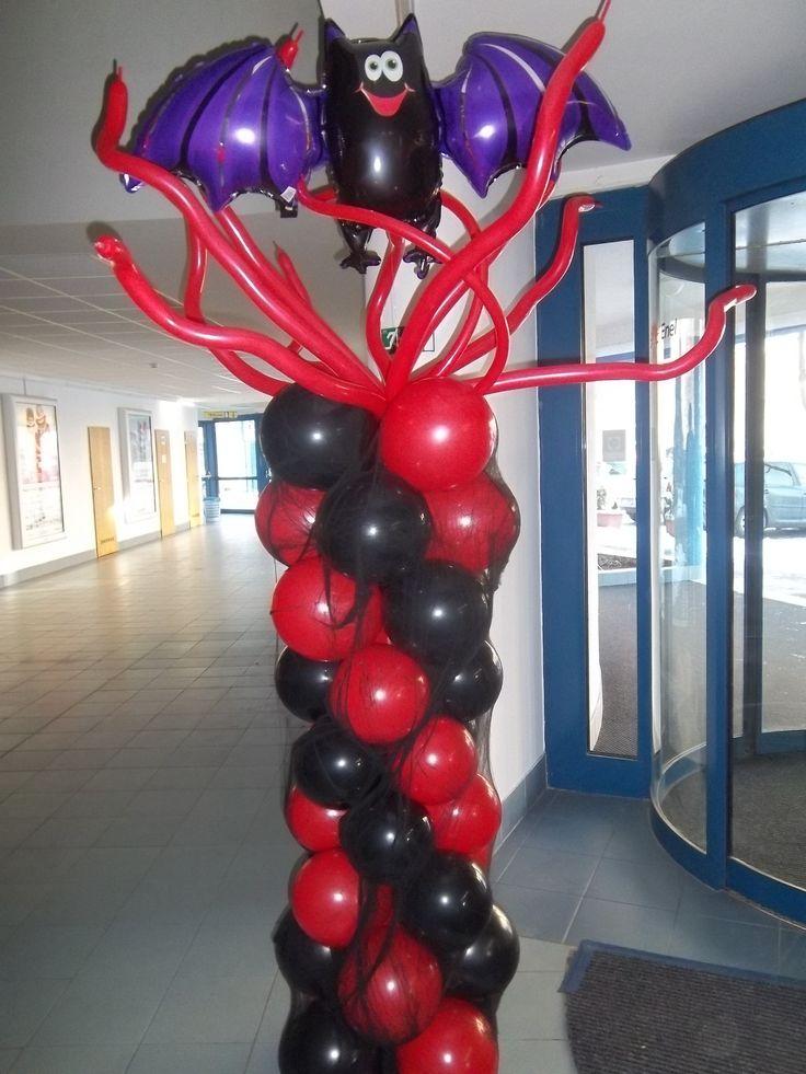 Balónový stĺp - netopier