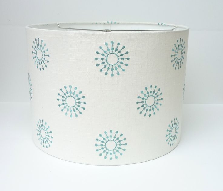 25 best lamps images by christina coffelt on pinterest lamp drum lamp shade in aqua embroidered fabric aloadofball Choice Image