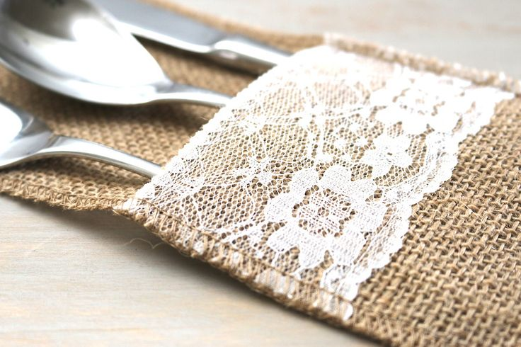 Burlap we can make this a diy project  With the navy burlap we found and some lace this would be easy to do!