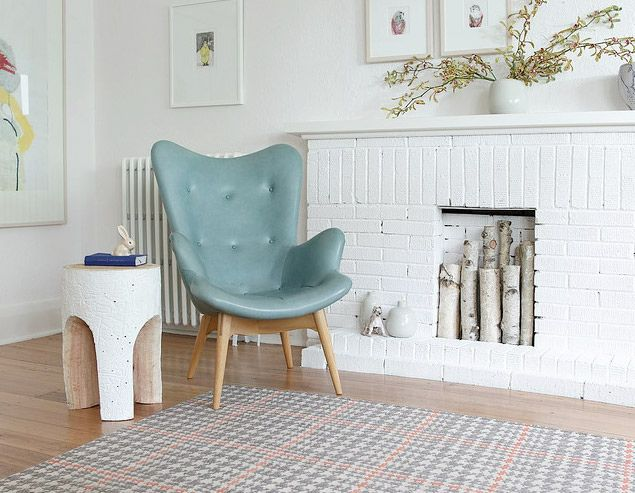 great chair: Interior, Ideas, Chairs, Greg Hatton, Living Room, Fireplace