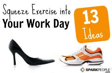 13 Ways to Get Moving at Work | via @SparkPeople #exercise #fitness