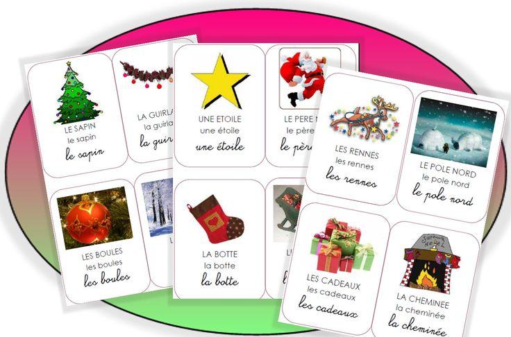 Imagier à imprimer : thème Noel