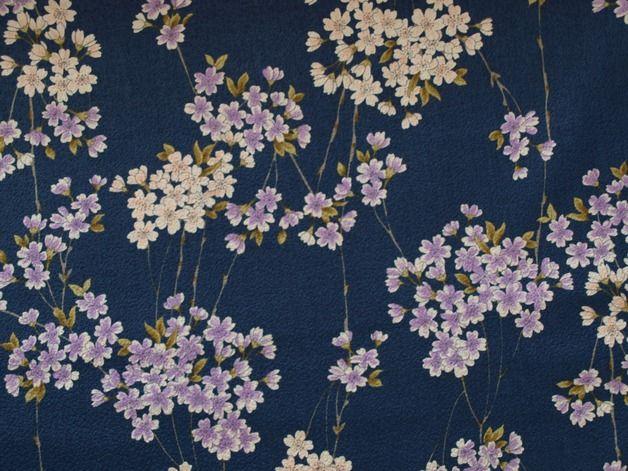 Stoff Blumen - Kirschblüten - ein Designerstück von Mai-Lu bei DaWanda