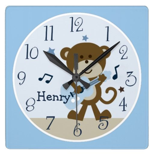 "Personalized ""Monkey Rockstar/Musical"" Clock"