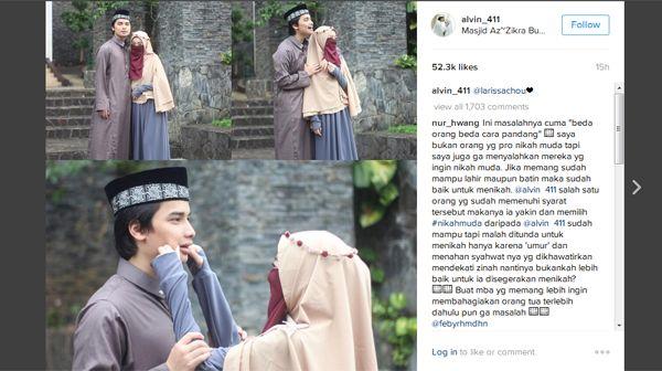 Foto Alvin Faiz dan Larissa Chou Bikin Netizen Baper