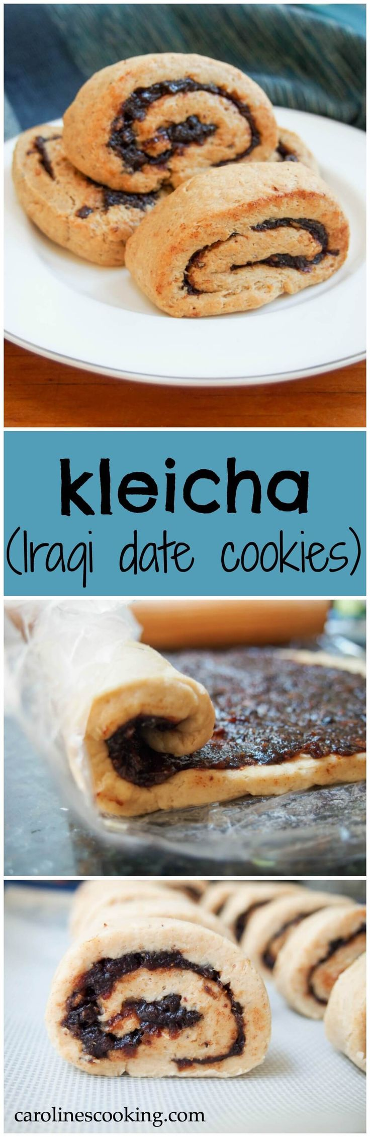 Kleicha, Iraqi date cookies, are a delicious combination of gently spiced dough with a cardamon & fennel-infused date filling. Perfect for sharing. Try them as an alternative to your traditional Holiday cookies.