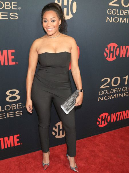 Tai Davis is seen attending Showtime Golden Globe Nominees Celebration at Sunset Tower in Los Angeles, California.