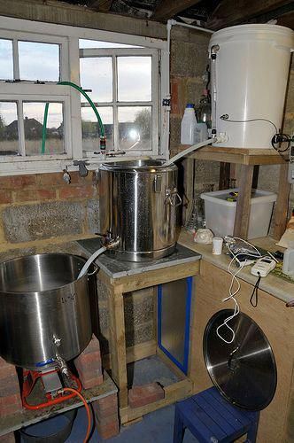 here s my home brewery setup it s a 3 tier gravity based system rh pinterest com